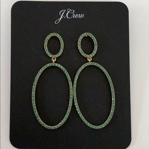 J. Crew Oval Drop Earrings